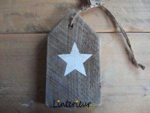 Houten plankje met ster