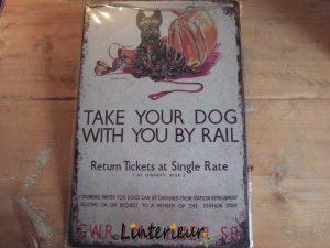 Metaalbord take your dog