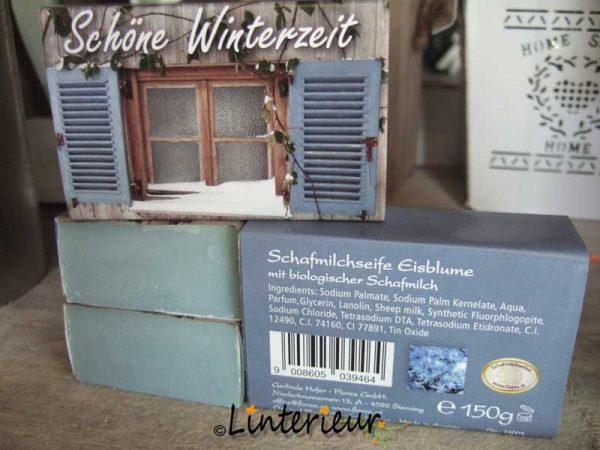 Schapenmelk zeep schöne winterzeit