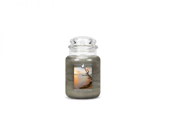 Goose Creek Mahogany Driftwood 24oz Candle Jar