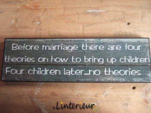 Tekstbord before marriage