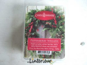 Candle Warmers wax melts pepperberry wreath