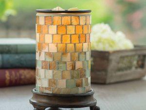Candle Warmers elektrische geurbrander sea glass mozaïk