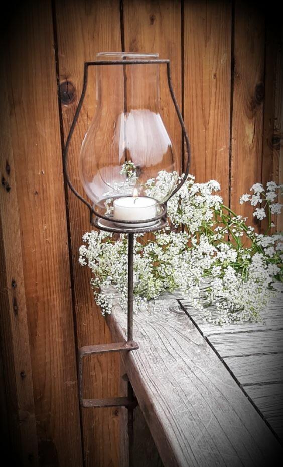 klemlantaarn met glas