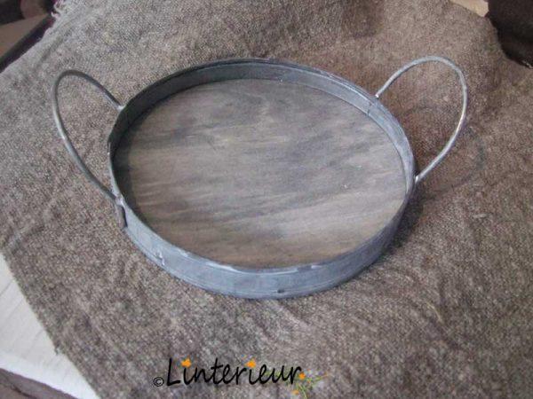 Dienblaadje zink en hout