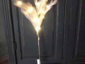 Pluim taupe met led verlichting